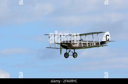 Vintage De Havilland DH51  'Miss Kenya' biplane  Aircraft in flight.