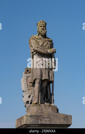 Robert the Bruce statue outside Stirling Castle, Stirling, Scotland, UK