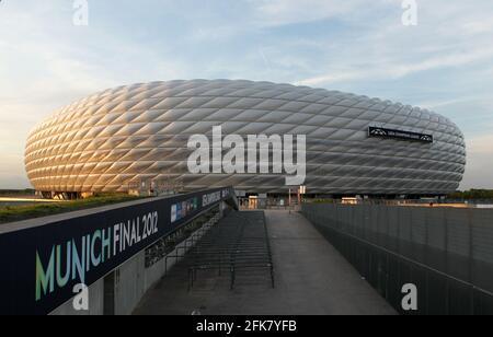 Stadion Allianz Arena in Muenchen Froettmaning for the UEFA Euro 2020 / 2021 football European Championship   Football Stadium from FC Bayern Munich  © diebilderwelt / Alamy Stock
