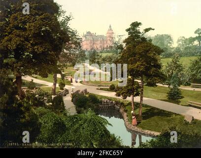 Valley Gardens, Harrogate in Yorkshire circa 1890-1900