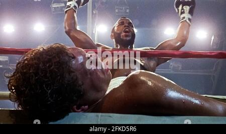 USA. Mr. T  in a scene from (C) MGM/UA film: Rocky III (1982). Plot: After winning the ultimate title and being the world champion, Rocky falls into a hole and finds himself picked up by a former enemy.   Ref: LMK110-J7064-290421 Supplied by LMKMEDIA. Editorial Only. Landmark Media is not the copyright owner of these Film or TV stills but provides a service only for recognised Media outlets. pictures@lmkmedia.com