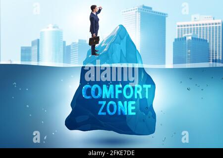 Concept of leaving comfort zone