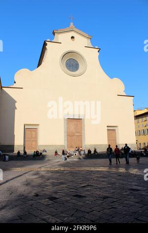 Blank facade of Santo Spirito, Basilica di Santo Spirito ('Basilica of the Holy Spirit') is a church in Florence, Italy
