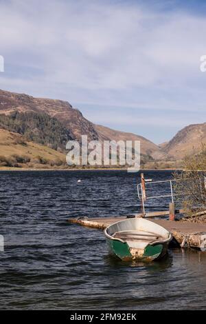Rowing boat at Tal-y-Llyn lake, Snowdonia, Wales