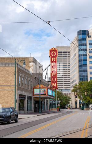 Memphis, TN / USA - September 3, 2020: The Orpheum Theatre in Memphis, TN