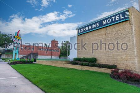 Memphis, TN / USA - September 3, 2020: The Lorraine Motel in Memphis, TN where Martin Luther Kink, Jr was assassinated.