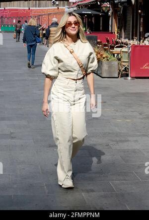 May 11, 2021 - London, England, UK - Ashley Roberts leaves Global Radio Studios this morning
