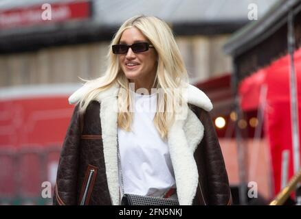 London, UK. 14th May, 2021. Ashley Roberts leaves the offices of Global Radio. Credit: Mark Thomas/Alamy Live News