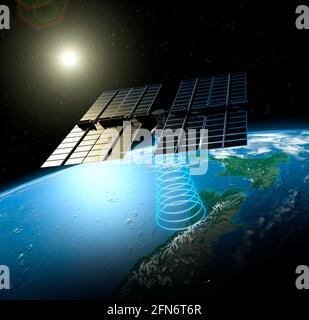 Space-based solar power, illustration