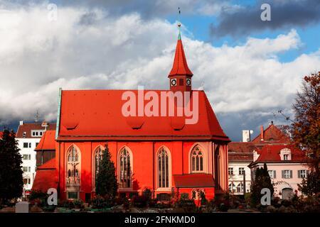St.Johannis Kirche and cemetery in Nuremberg . Church of St. John .  Johanniskirche catholic church in Nurnberg Bavaria ,Germany