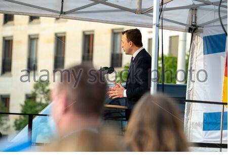 Berlin, Germany. May 20 2021: Paul Ziemiak, Solidarity rally Israel. Against all anti-Semitism, in Berlin on Pariser Platz on May 20th, 21st, Credit: Tim Eckert/Alamy Live News