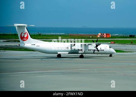 Ryukyu Air Commuter, RAC, De Havilland Canada Dash 8, DHC-8-200, JA82RC, Taxiing,  For Departure, Naha Airport, Okinawa, Japan