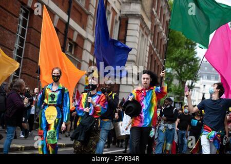 London, UK - 29th May 2021: Kill the Bill IV Protest Credit: Loredana Sangiuliano / Alamy Live News