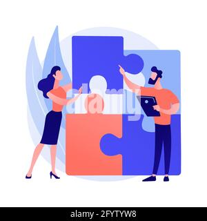 Design structure matrix abstract concept vector illustration. Project visual representation, system analysis, project management, organization team, p