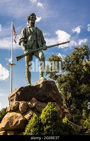 Minuteman Statue Lexington Battle Green   Lexington, Massachusetts, USA