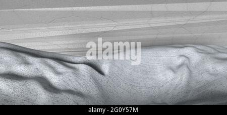 An abstract grayscale 3d grunge texture background image.