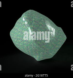 An abstract 3d cracked glass background image.