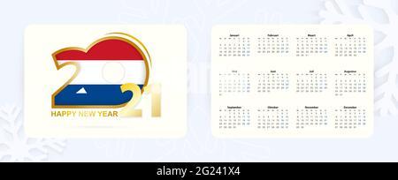 Calendar 2021 in Dutch language, week starts on Monday ...