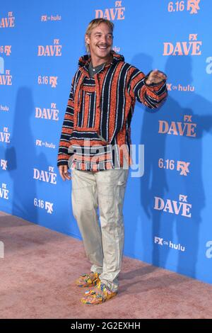 Los Angeles, CA. 10th June, 2021. Diplo at arrivals for DAVE Season 2 Premiere on FXX, The Greek Theater, Los Angeles, CA June 10, 2021. Credit: Priscilla Grant/Everett Collection/Alamy Live News