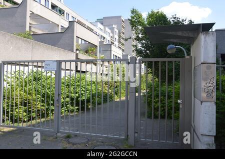 Schöneberger Terassen residential area in Berlin, Germany - 10th June 2021.
