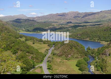 View from Dinas Emrys, overlooking Llyn Dinas and Nant Gwynant, Gwynedd, North Wales