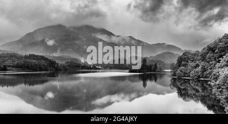 The morning was misty and eerily quiet as I watched the mist enveloping Ben Venue, overlooking Loch Achray in the Trossachs National Park, Scotland.