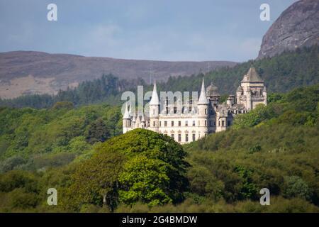 Dunrobin Castle at Golspie in the Scottish Highlands, UK