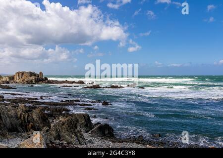 Turbulent sea in Pointe de Sehar, Tredrez-Locquemeau, Cotes d'Armor, Brittany, France