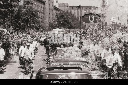 US President John F. Kennedy's visit to West Germany. June 23, 1963. After a brief meeting with Federal Chancellor Adenauer, the President toured Colo