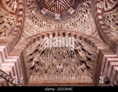vaulting in vestibule, Sultan Hasan complex, Cairo, Egypt