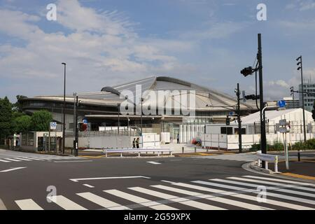 Tokyo, Japan. 25th June, 2021. A view of the Tokyo Metropolitan Gymnasium in Tokyo. Credit: SOPA Images Limited/Alamy Live News