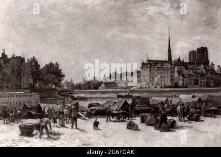 Stanislas Lpine. The Apple Market - c. 1880 - Stanislas Lpine French, 1835-1892. Oil on canvas. 1875 - 1885. France.