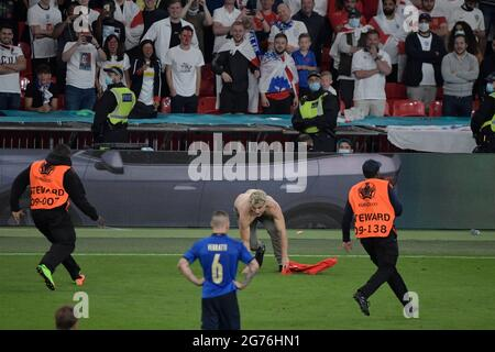London, UK. 11th July, 2021. Invasion of the field during the Uefa Euro 2020 Final football match between Italy and England at Wembley stadium in London (England), July 11th, 2021. Photo Andrea Staccioli/Insidefoto Credit: insidefoto srl/Alamy Live News