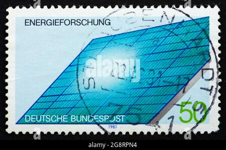 GERMANY - CIRCA 1981: a stamp printed in the Germany shows Solar Generator, Energy Conservation Research, circa 1981