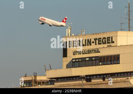 Berlin, Germany - September 15, 2018: Berlin Tegel - Otto Lilienthal Airport Terminal building, TXL, EDDT