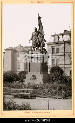 geography / travel, Germany, Thuringia, Weimar, monument for the Franco-Prussian War 1870-1871, ADDITIONAL-RIGHTS-CLEARANCE-INFO-NOT-AVAILABLE