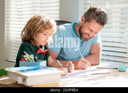 private writing lesson. education concept. homeschooling and self-education.