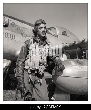 WW2 Edward C. Gleed, Tuskegee pilot, standing, three-quarter length portrait by Frissell, Toni, 1907-1988, photographer Date Created/Published: 1945 March Photograph shows Tuskegee airman Edward C. Gleed of Lawrence, Kansas, Class 42-K, Group Operations Officer. Includes P-5/D in background, 'Creamer's Dream,' generally flown by Charles L. White, St. Louis, MO, Class 44-C. Ramitelli, Italy, March 1945. (Source: Tuskegee Airmen 332nd Fighter Group pilots.)
