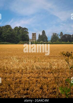 View of the village church at Burton Agnes, East Yorkshire