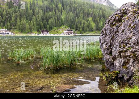 view of Lake Misurina is the largest natural lake of the Cadore.