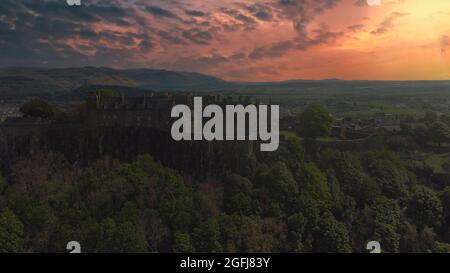Sunset at Stirling Castle in Scotland, UK