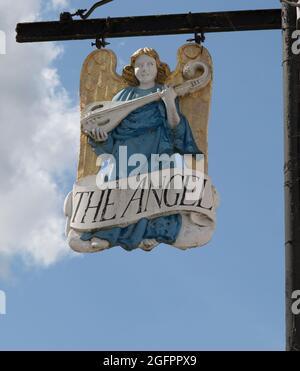 The Angel Hotel Sign Lavenham Suffolk