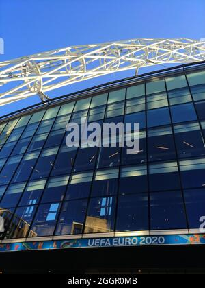 Wembley Stadium ahead of the Euro 2020 Final in London, UK
