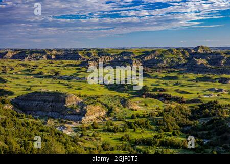 View from Buck Hill in Theodore Roosevelt National Park, North Dakota, USA.