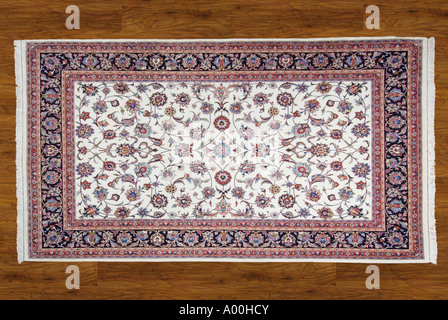 Carpet rug Iran Iranian Persia Persian near Middle East regional region Asia minor north east South west - Stock Photo