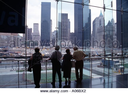 Ground Zero from World Financial Centre - Stock Photo
