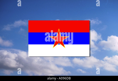 Flag of Montenegro - Stock Photo