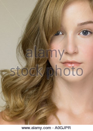 Portrait of a teenage girl - Stock Photo
