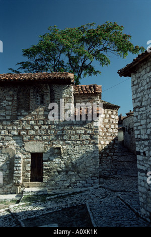 Church of St Meri dating from the 14th century in the fortress Berat Albania Europe - Stock Photo