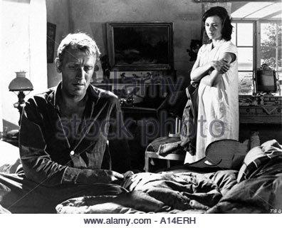 Sasom I En Spegel Year 1961 Director Ingmar Bergman Harriet Andersson Max von Sydow - Stock Photo